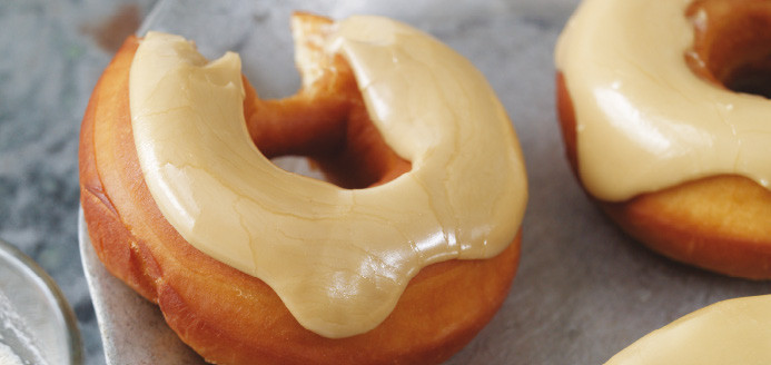 Receta donas glaseadas maple