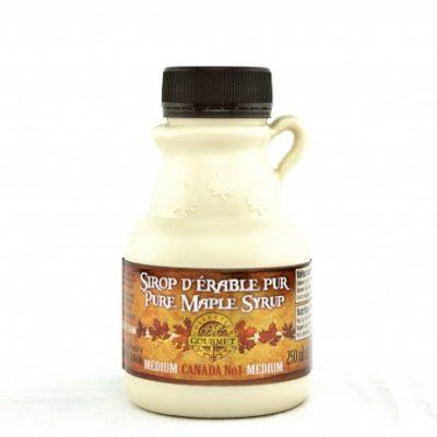 Jarabe puro de maple 250ml/ 8.5 US fl oz. Canada A ÁMBAR, Sabor Rico – jarra plástica