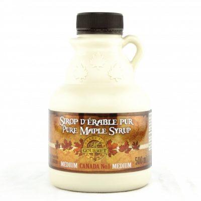 Jarabe puro de maple 500ml/ 17 US fl oz. Canada A ÁMBAR, Sabor Rico – jarra plástica
