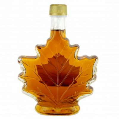 Jarabe puro de maple- Canada A ÁMBAR, Sabor Rico Hoja de maple, -250 ml / 8.5 fl oz, botella de vidrio