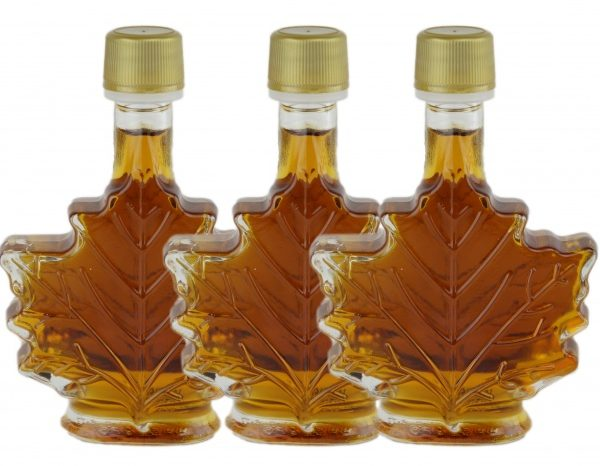 Jarabe puro de maple 3x50ml Canada A ÁMBAR, Sabor Rico Hoja de maple