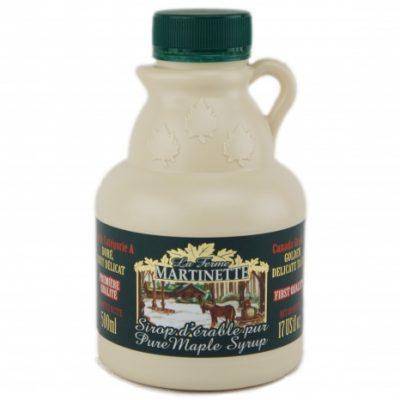 Jarabe puro de maple – Sabor delicado de oro – jarra de plástico 500 ml / 17 fl oz