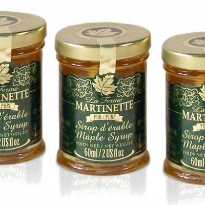 Jarabe puro de maple Canada A- Dorado, sabor delicado – 3 Pequeños envases de vidrio de 60 ml / 2 US fl oz