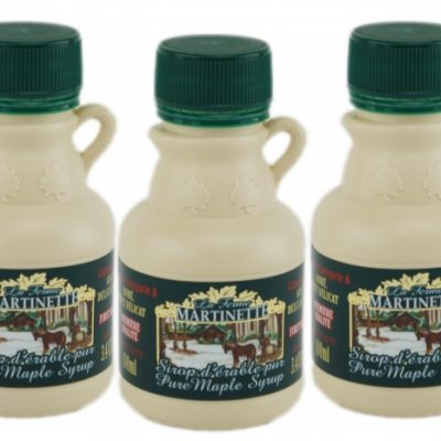 Jarabe puro de maple CANADÁ A- Dorado, sabor delicado – 3.4 fl oz / 100 ml – 3 jarras de plástico