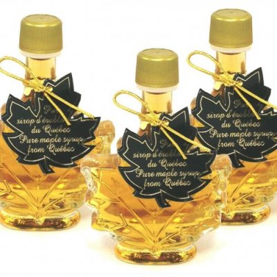 Jarabe puro de maple 3x 50 ml, hoja de maple- botellas