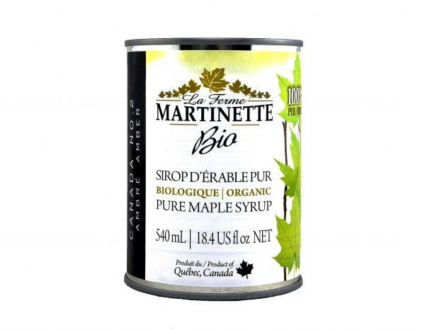 ORGANICA Jarabe puro de maple OSCURO, Sabor Robusto 8x540ml en lata