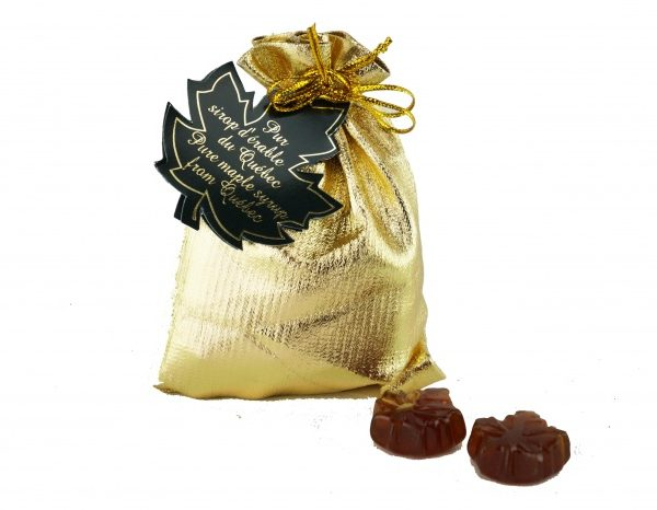 Bolsa-Caramelos duros de Maple CLARO-50g Hoja de maple