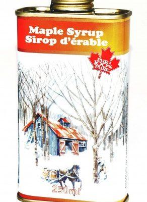 Jarabe puro de maple 250ml en lata CANADA NO1 MEDIO