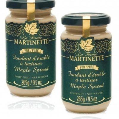 Fondant de maple ( Crema pura de maple)- 2 tarros de vidrio de 265 g / 9.5 oz
