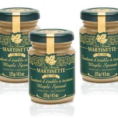 Fondant de maple puro – 3 tarros de vidrio de125 g / 4.5 oz