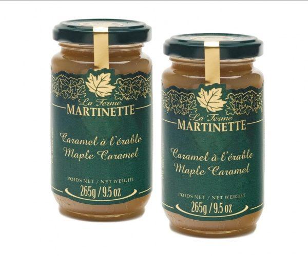 Caramelo de maple -2 tarros de vidrio de 265g/9.5 oz