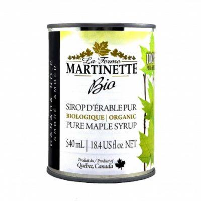 ORGANICA Jarabe puro de maple OSCURO, Sabor Robusto 3x540ml en lata