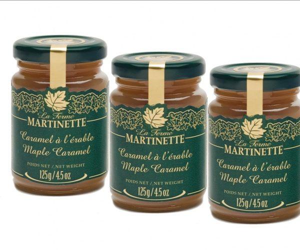 Caramelo de maple – 3 tarros de vidrio de 125 g / 4.5 oz
