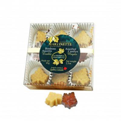 Surtido de caramelos de arce – cuadro (65 g/2,3 oz)