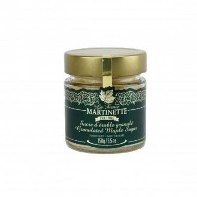 Azúcar de maple puro granulado FINO – Jarra de vidrio 150 g / 5.5 oz
