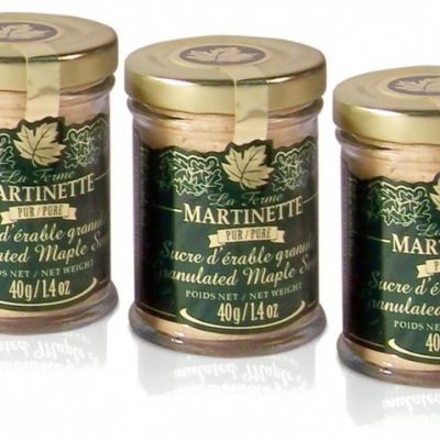 Azúcar de maple puro granulado FINO 3 x 40 g- Tarros de vidrio