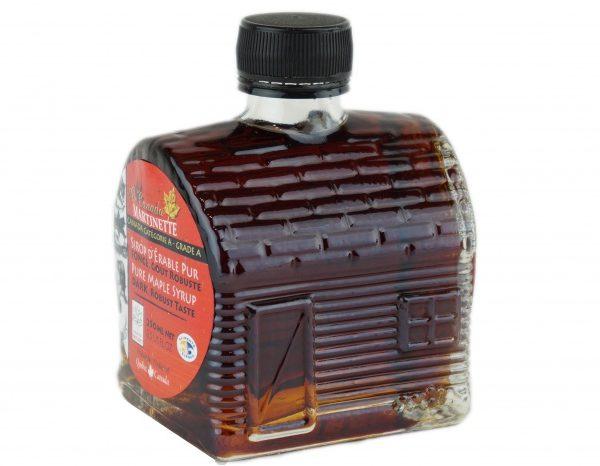 O CANADA – Jarabe puro de maple 250ml OSCURO, Sabor Robusto- Cabaña de azúcar