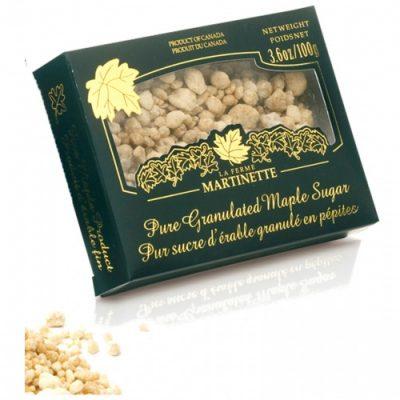 Azúcar de maple puro granulado GRUESO – Caja de 100 g / 3.6 oz