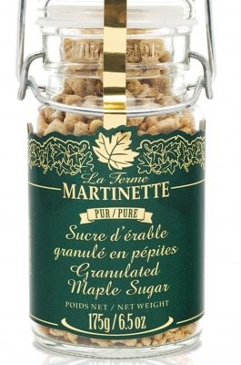 Azúcar de maple puro granulado GRUESO-Tarro con seguro de metal- 175g/6.5 oz
