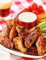 Alitas de pollo al maple