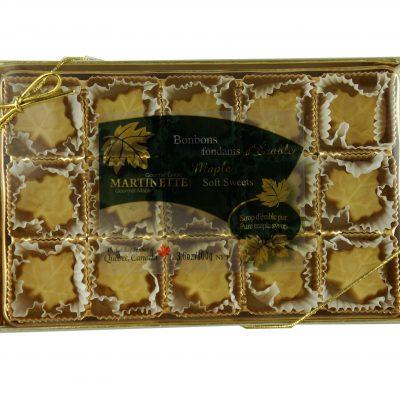 Caramelos fondants de maple – caja de 15 piezas (100 g / 3.6 oz) en forma de hoja de maple