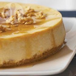Cheesecake de maple con nuez