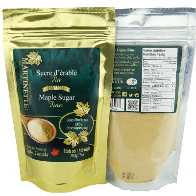 Azúcar de maple granulado FINO – 200g