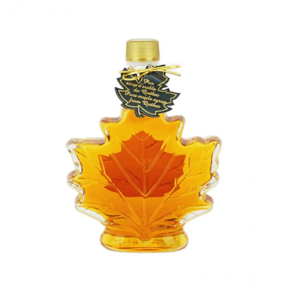 Hoja de maple de 250 ml-8.5 US Fl.oz Canada A- Jarabe puro de maple Botella de vidrio