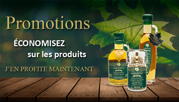 Promotions sirop d'érable du Québec