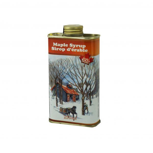 Jarabe puro de maple 250ml en lata – Canadá A  OSCURO, sabor robusto