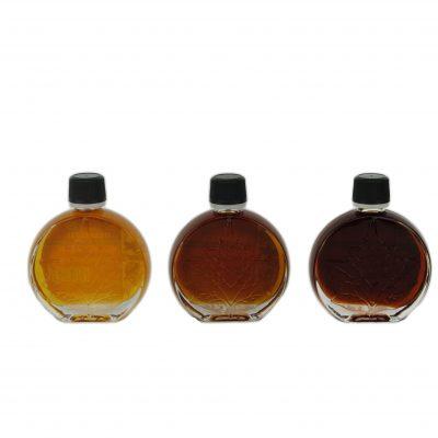 O CANADA – Jarabe puro de maple -3 categorías x 50 ml -Medaillones de hoja