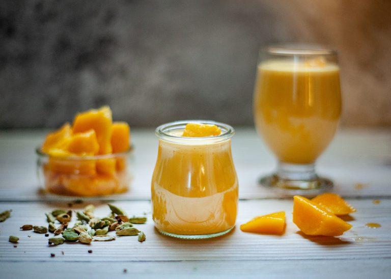 Pudín de mango y maple