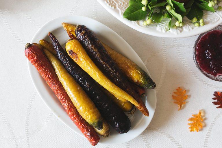 Zanahorias glaseadas al maple y mostaza