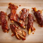 Costillas con tira de maple