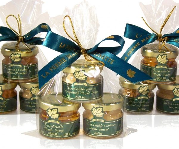 TRIO MIGNONS clásico de maple, 3 tarros de vidrio-Regalo