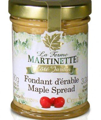 Crema de maple y arándanos-Tarro de vidrio de 90g