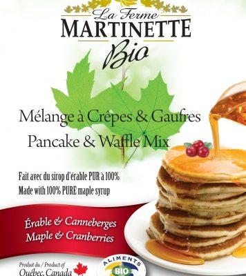 ORGANICA Harina para hot-cakes maple-cranberry ( con arandanos) 500g