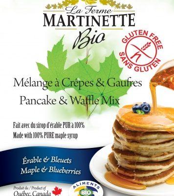 SIN GLUTEN ORGÁNICA Harina para hot-cakes maple-blueberry (con acianos) 250g