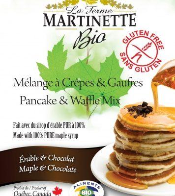 SIN GLUTEN ORGÁNICA Harina para hot-cakes maple-chocolate 250g