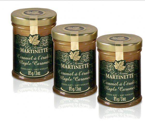 Caramelo de maple – 3 tarros de vidrio de 85 g / 3 oz