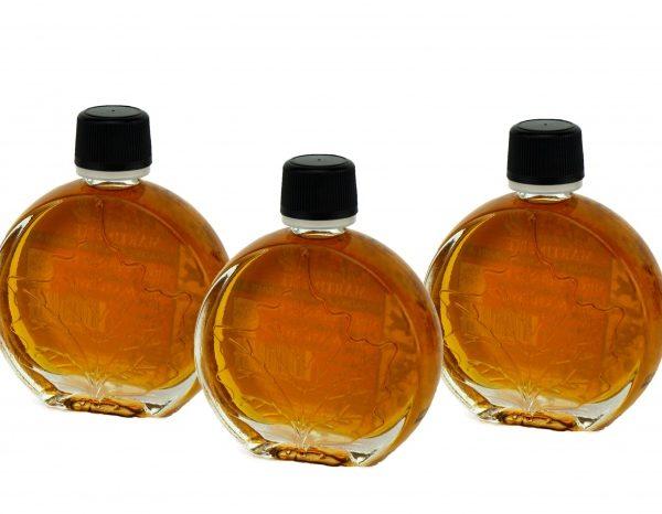 O CANADA – Jarabe puro de maple -ÁMBAR, Sabor Rico- 3x50ml Hoja medallón