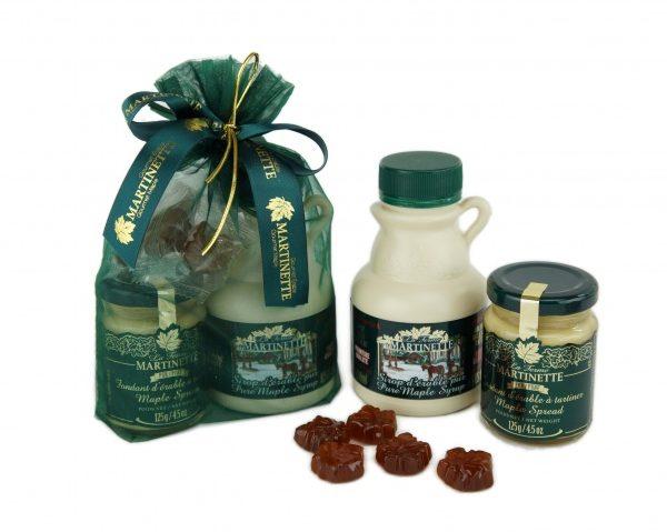 Maple Elegance clásico 1- embalaje de bolsa de organza verde