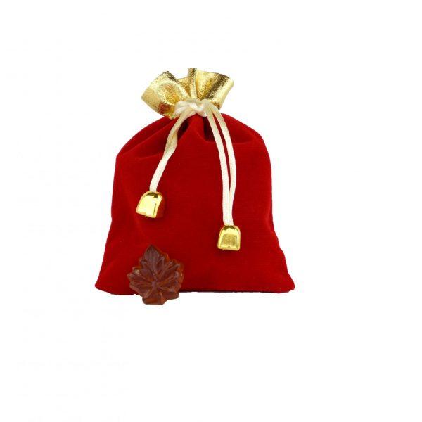 Bolsa-Caramelos duros de Maple CLARO-50g Hoja de maple