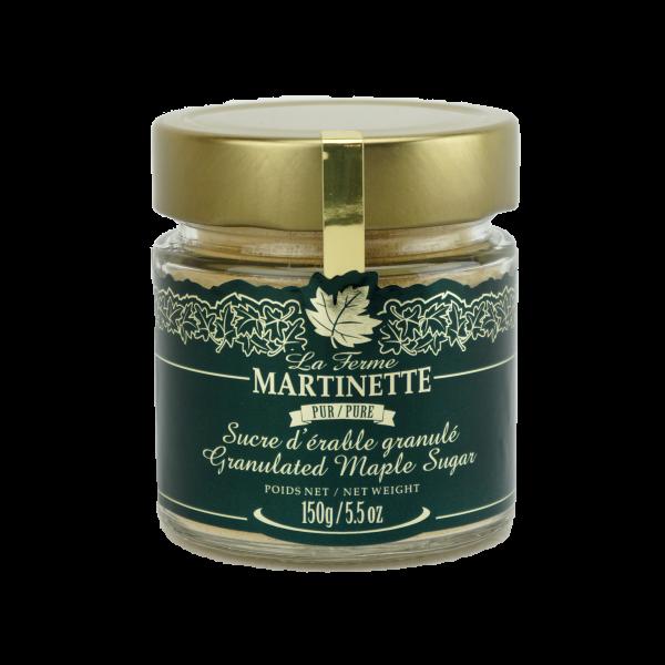 Azúcar de maple puro granulado FINO- Tarro  150 g / 5.5 oz