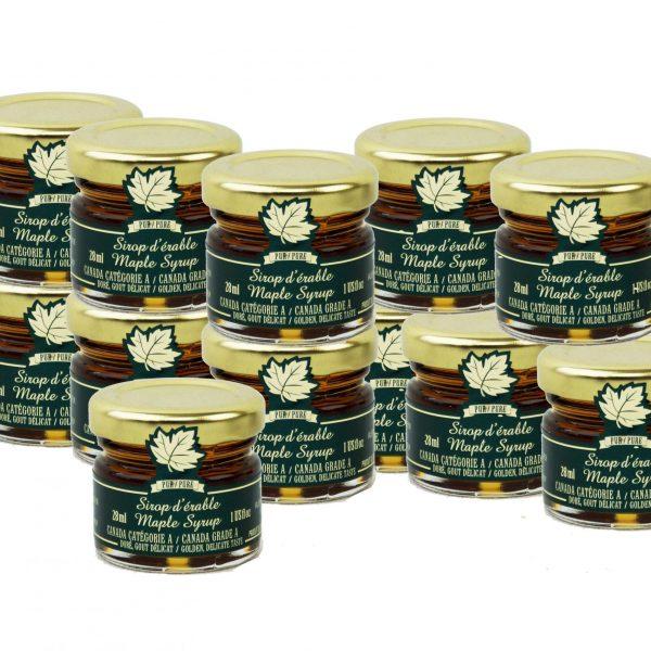 Jarabe puro de maple CANADÁ A- Dorado, sabor delicado – Tarros Mignons 12x28ml