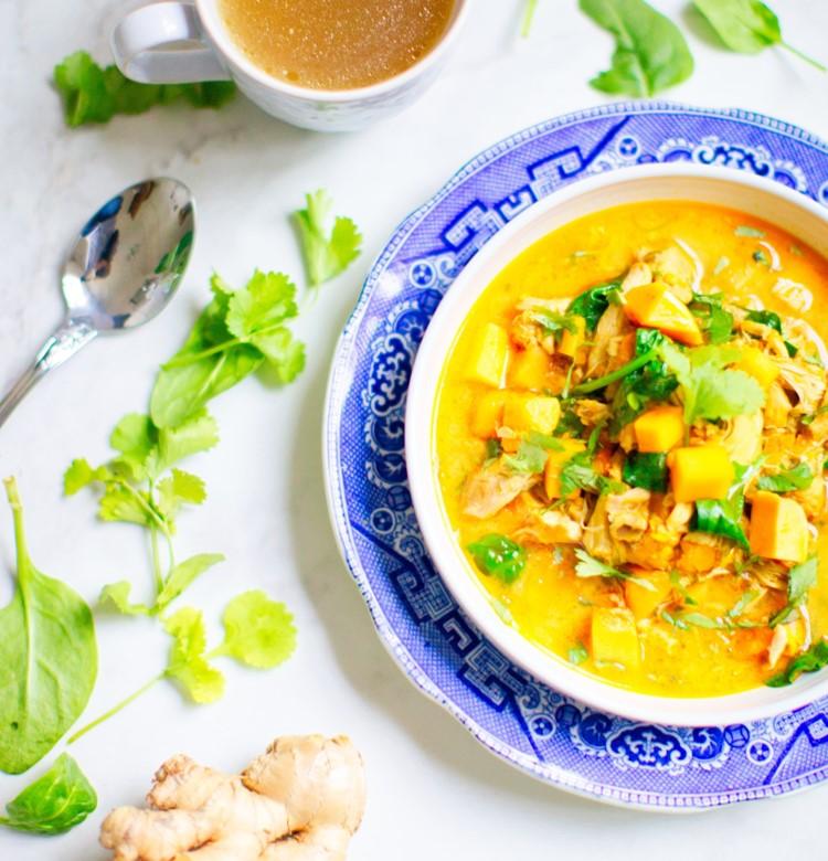 Pollo al maple y curry
