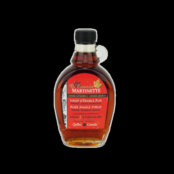 O CANADA – Jarabe puro de maple OSCURO, Sabor Robusto 250ml