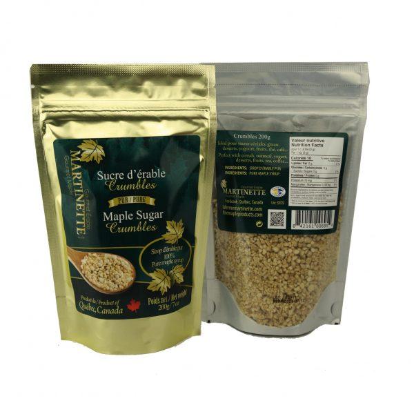 Azúcar de maple granulado -Se desmorona – 200g