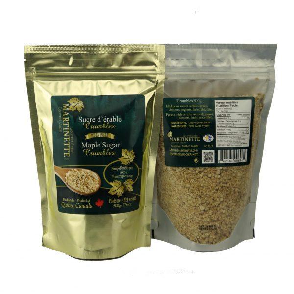 Azúcar de maple granulado -Se desmorona – 500g