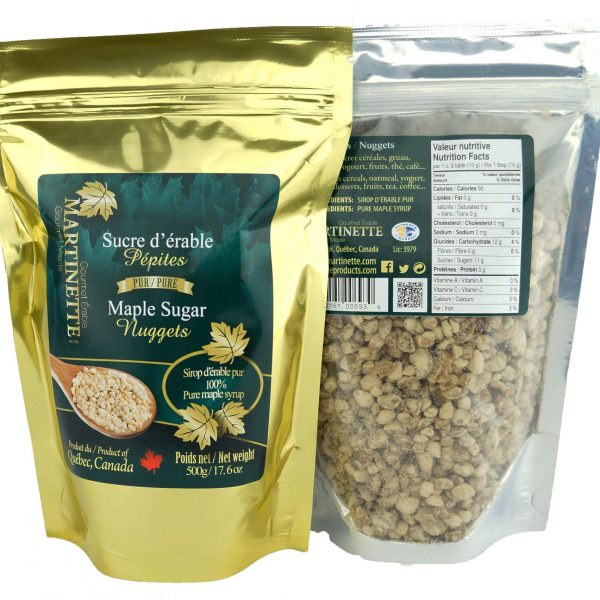 Azúcar de maple granulado GRUESO – 500g